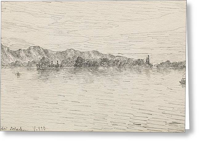 Thunersee Near Schadau Greeting Card by Paul Klee