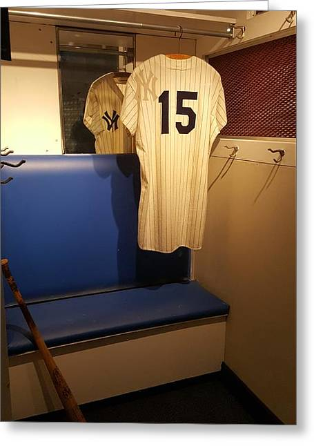 New York Yankee Captian Thurman Munson 15 Locker Greeting Card