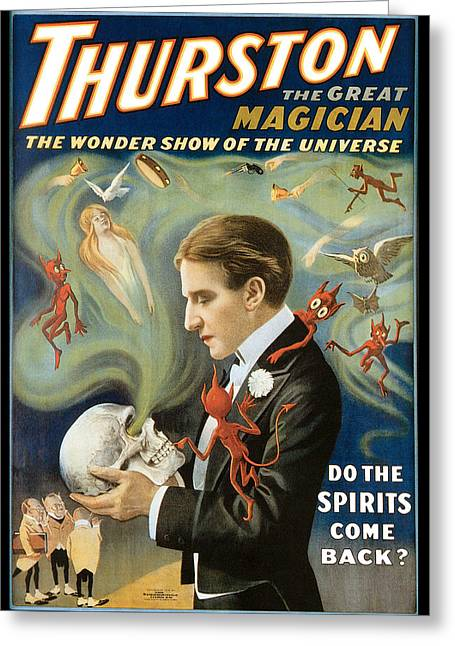 Tricks Greeting Cards - Thurston the Great Magician Greeting Card by Unknown