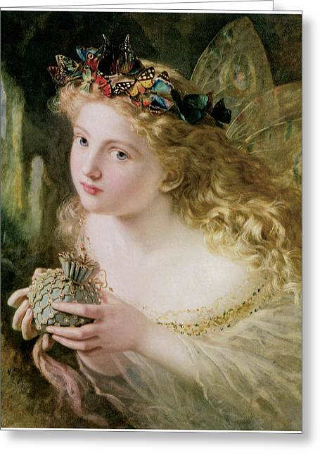 Thus Your Fairy's Made Of Most Beautiful Things Greeting Card by Sophie Anderson