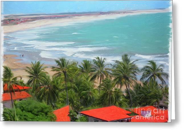 Tiabia, Brazil Beach Greeting Card
