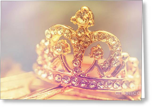 Tiara Crown With Diamonds Greeting Card by Jorgo Photography - Wall Art Gallery