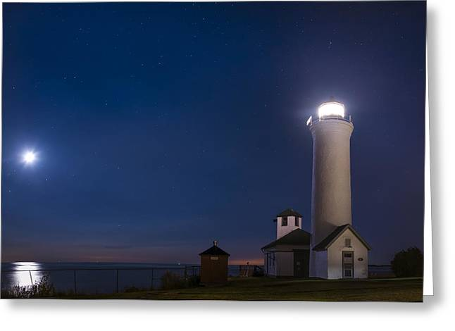 Greeting Card featuring the photograph Tibbets Point Night by Mark Papke