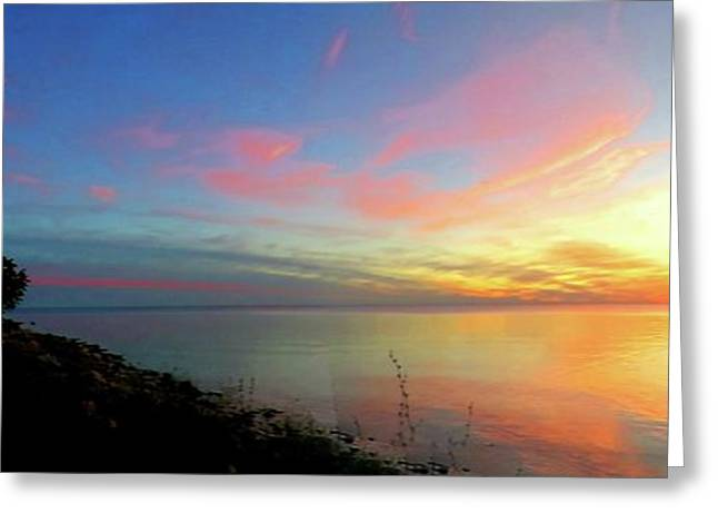 Sunset At Tibbetts Point Light, 2015 Greeting Card