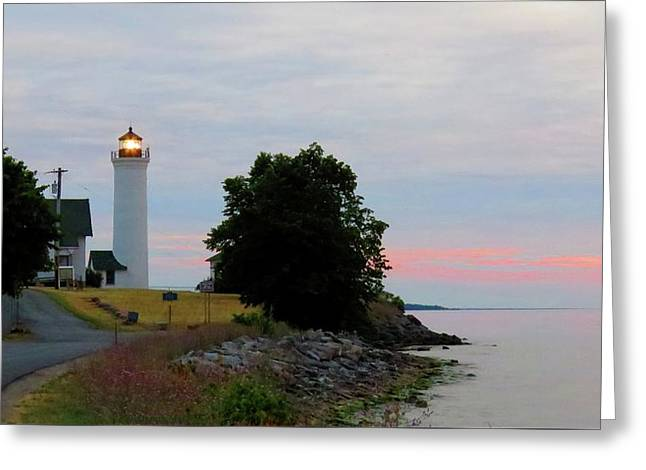 Tibbetts Point Light Sunset Greeting Card