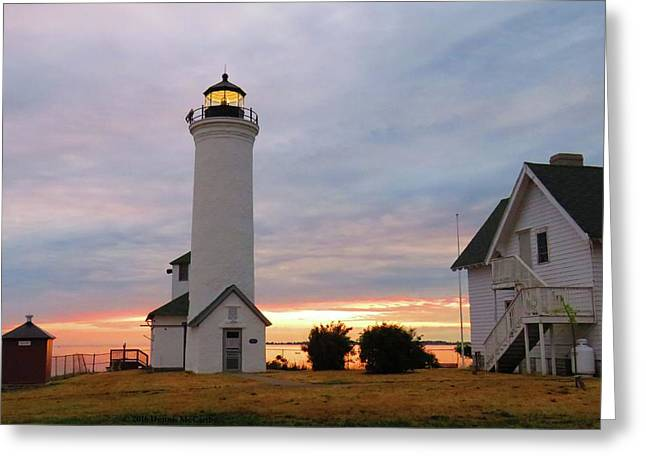 Tibbetts Point Lighthouse, July Sunset Greeting Card