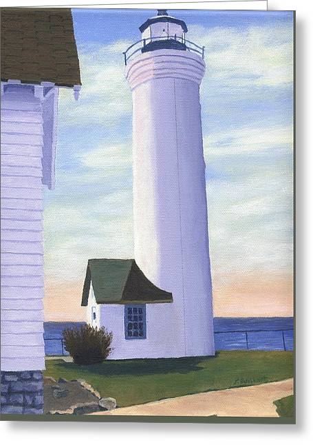Greeting Card featuring the painting Tibbett's Point by Lynne Reichhart