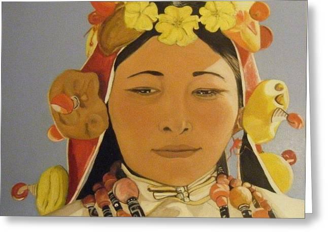 Tibetan Celebration Orginal Greeting Card