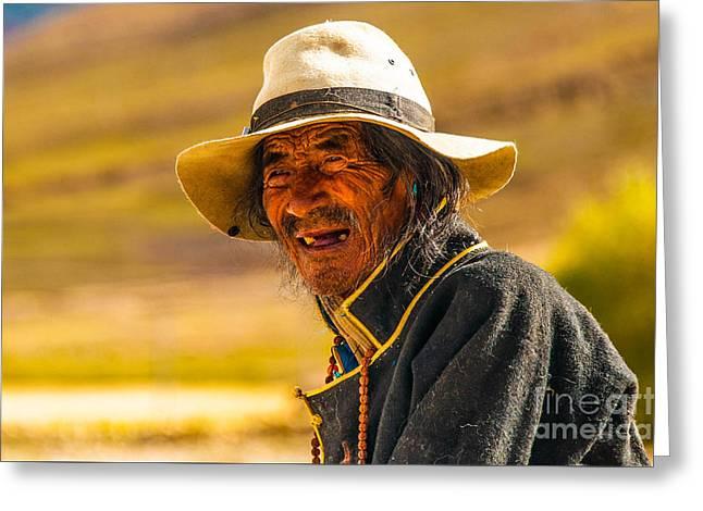 Tibetan Greeting Card by Mu Yee Ting