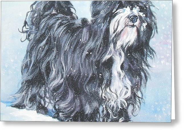 Tibetan Terrier Greeting Card by Lee Ann Shepard