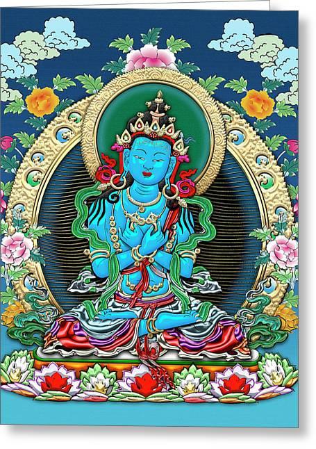 Tibetan Thangka  - Vajradhara -  Dharmakaya Buddha Greeting Card