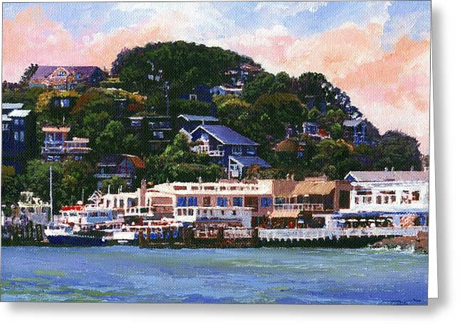 Tiburon California Waterfront Greeting Card