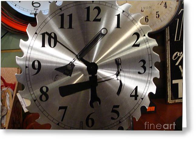 Tick Tock Tick Tock Greeting Card by Rod Jellison