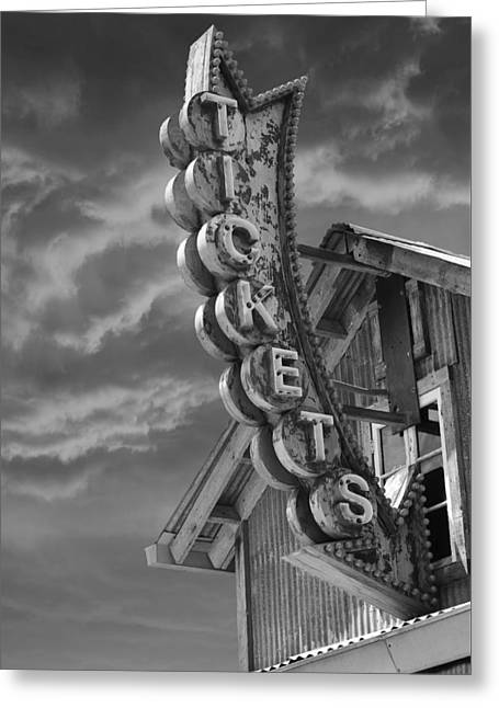 Greeting Card featuring the photograph Tickets Bw by Laura Fasulo