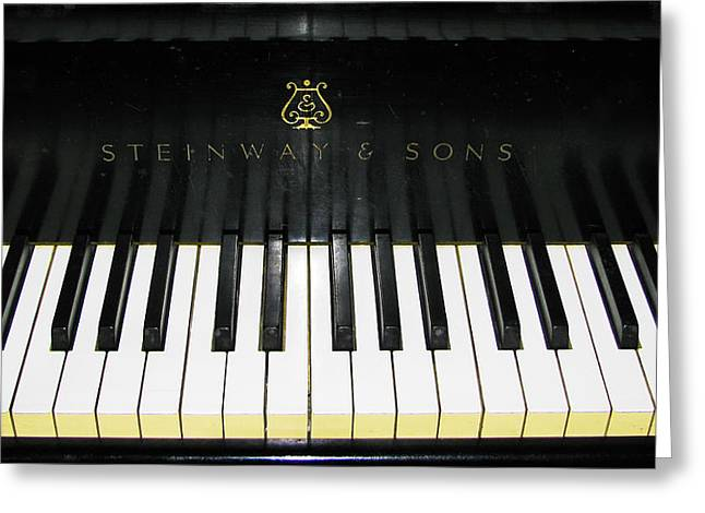 Tickling The Ivories Greeting Card by Colleen Kammerer
