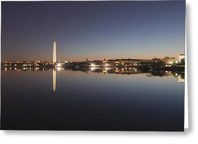 Tidal Basin At Night Greeting Card