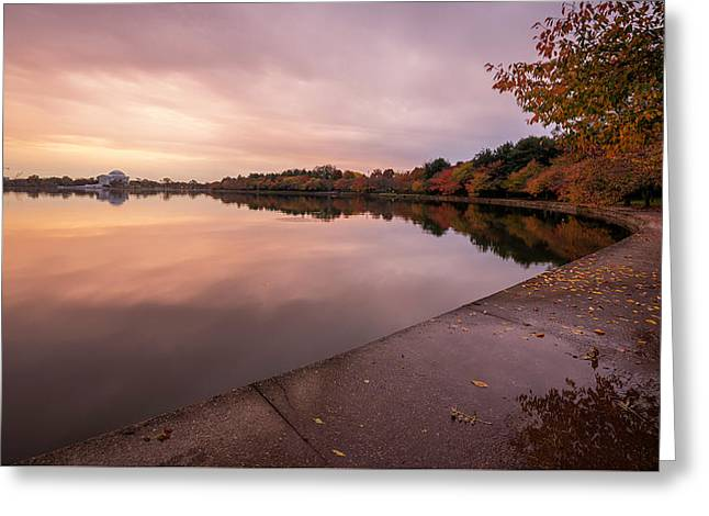 Tidal Basin In Fall 2 Greeting Card by Michael Donahue