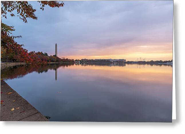 Tidal Basin In Fall 3 Greeting Card by Michael Donahue