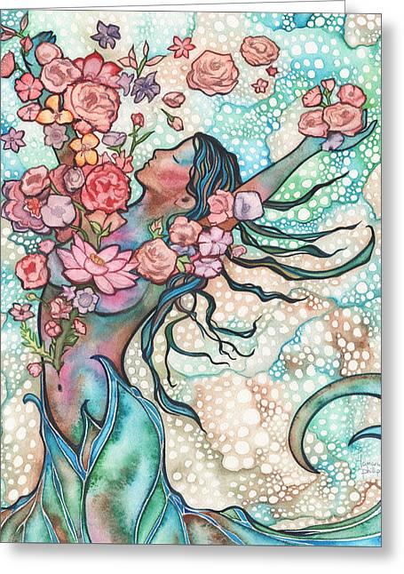 Tidal Bloom Greeting Card