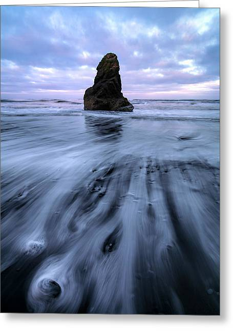 Greeting Card featuring the photograph Tidal Dance II by Mike Lang