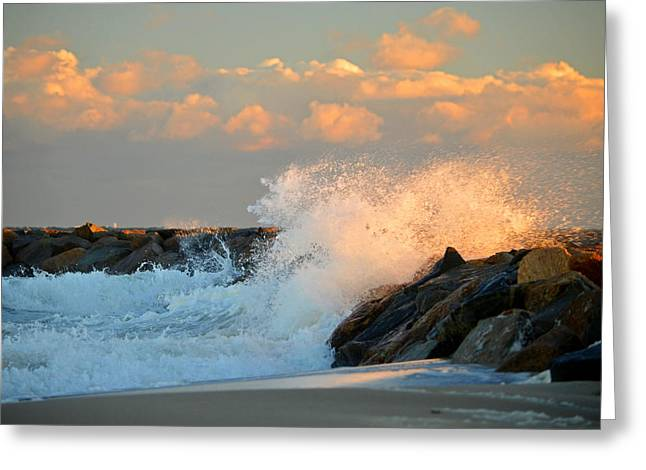 Tidal Energy - Cape Cod Bay Greeting Card by Dianne Cowen