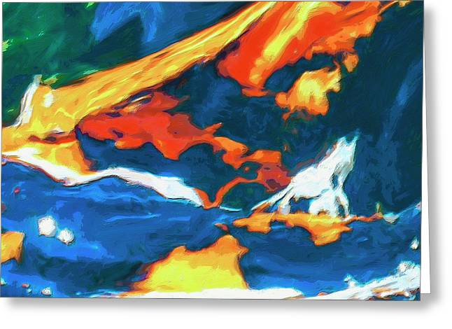 Greeting Card featuring the painting Tidal Forces by Dominic Piperata