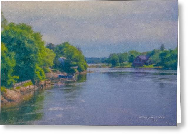 Tidal Inlet In Southern Maine Greeting Card