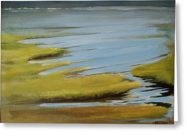 Tidal Pond Greeting Card by Jenny Stanley