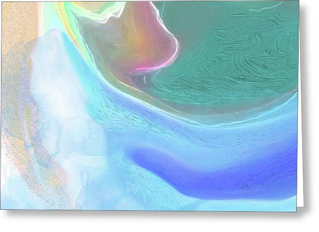Greeting Card featuring the digital art Tidal Pool by Gina Harrison