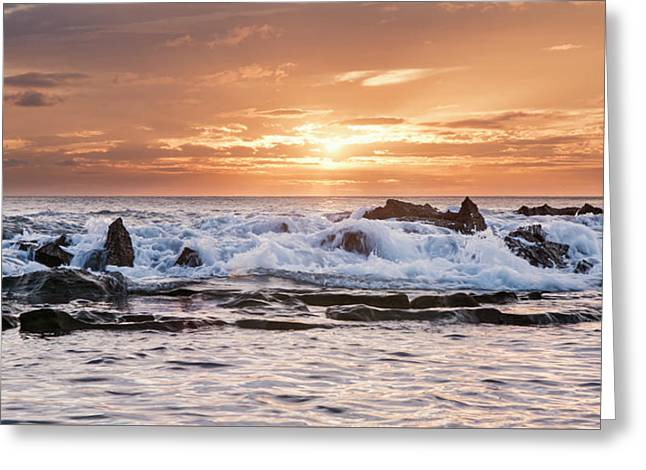 Tidal Sunset Greeting Card by Heather Applegate