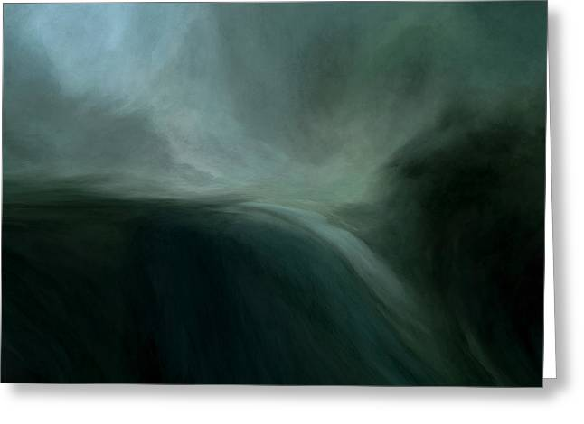 Tidal Wave Greeting Card by Lonnie Christopher