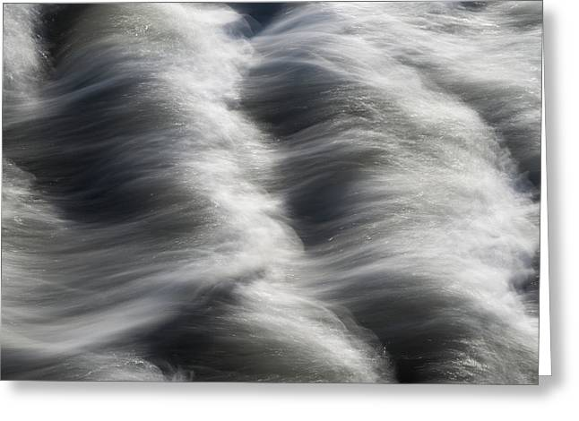 Tide Over Rocks Greeting Card by Tony Higginson