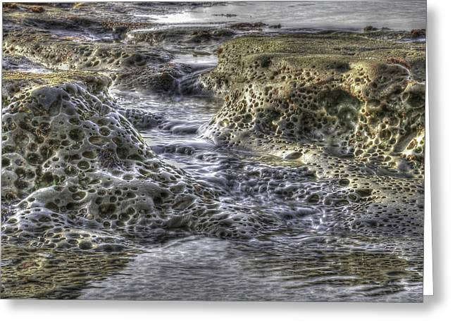 Tide Pool Waterfall Greeting Card