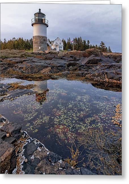 Tide Pools At Marshall Point Lighthouse Greeting Card