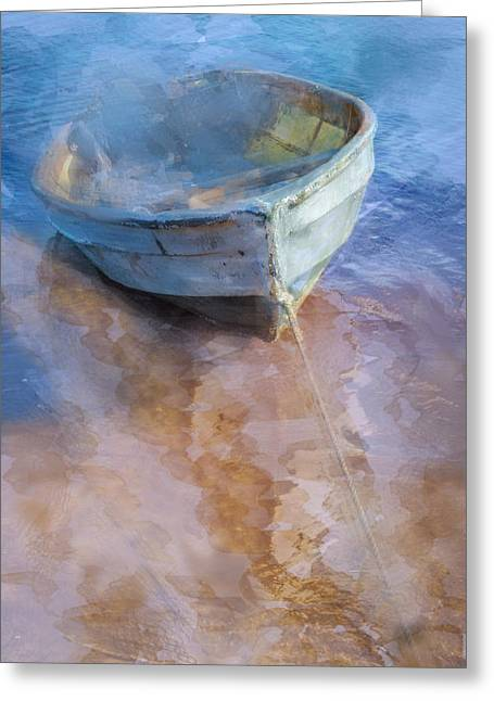 Tide Up At The Shore Greeting Card by Debra and Dave Vanderlaan