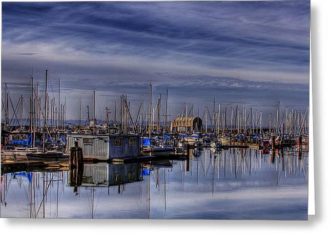 Tideflats Marina Greeting Card by David Patterson