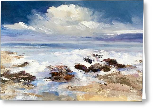 Greeting Card featuring the painting Tidepool by Helen Harris