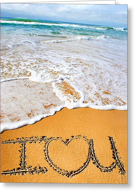 Tides Of Romance Greeting Card