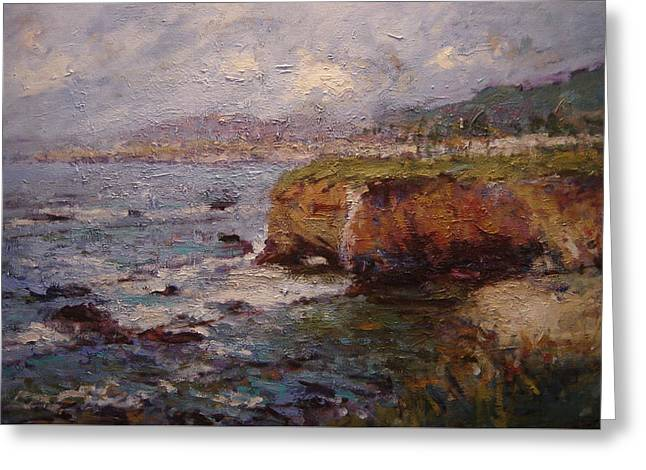 Tidewater On The Cliffs II Greeting Card