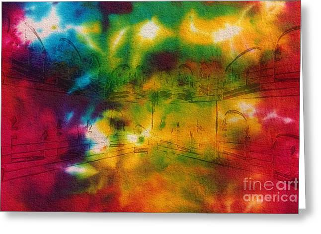 Tie-dyed Intermezzo Dream Greeting Card