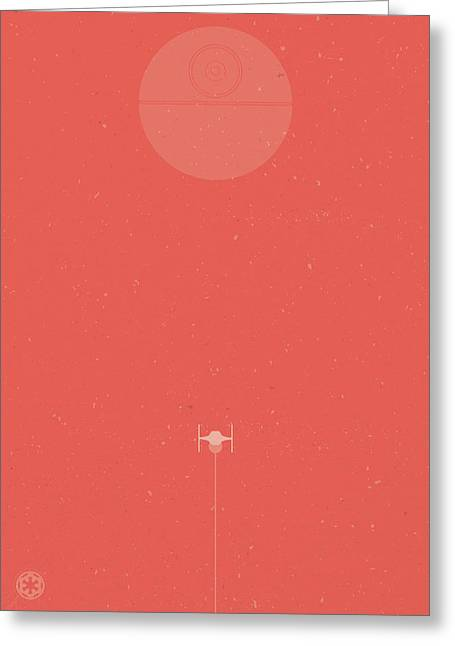 Tie Fighter Defense Greeting Card