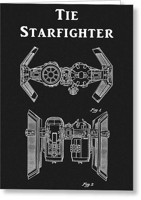 Tie Fighter Patent Greeting Card