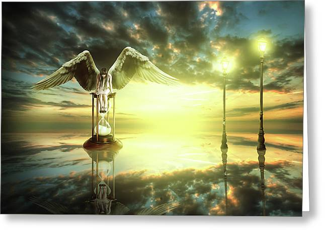 Greeting Card featuring the digital art Time To Reflect by Nathan Wright