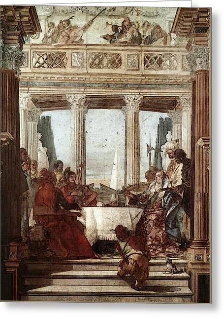 Tiepolo Palazzo Labia The Banquet Of Cleopatra Greeting Card