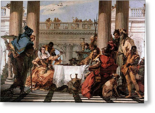 Tiepolo The Banquet Of Cleopatra Greeting Card