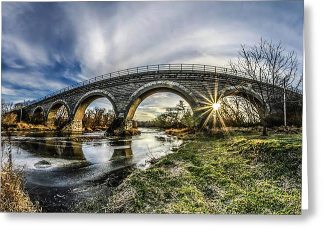Tiffany Bridge Panorama Greeting Card