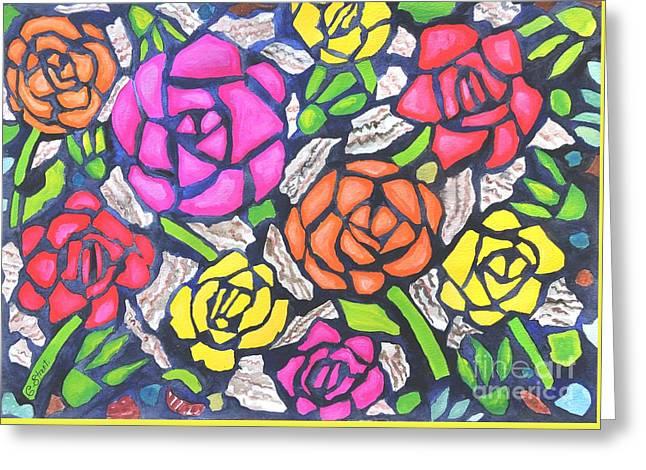 Tiffany Roses Greeting Card