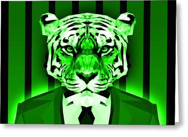 Tiger 1 Greeting Card by Gallini Design