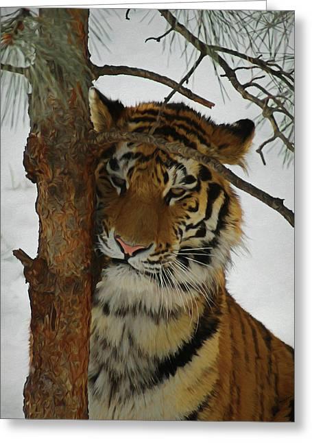 Tiger 2 Da Greeting Card