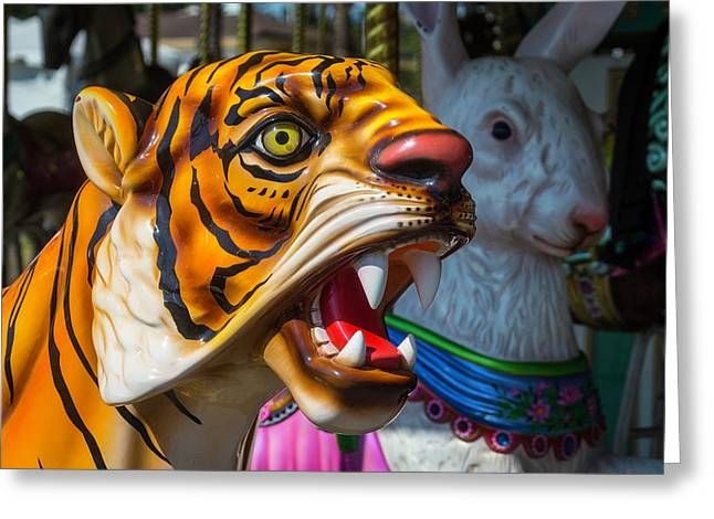 Tiger And Bunny Ride Greeting Card by Garry Gay
